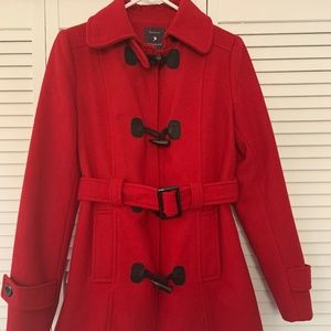 Red Wool Peacoat